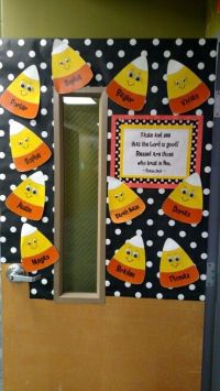 Door Decoration For Fall Classroom  Oh Decor Curtain