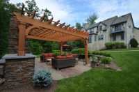 Patio Design with Pergola and Fireplace - Sponzilli ...