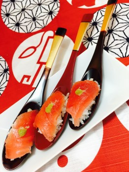 MAGURO with WASABI SpoonSushi!2