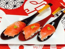 MAGURO with WASABI SpoonSushi!3
