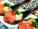 MAGURO with SHISO Leaves, Avocado and Mayo SpoonSushi!1