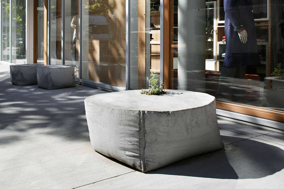Concrete Outdoor Pots Concrete Outdoor Planter Bench