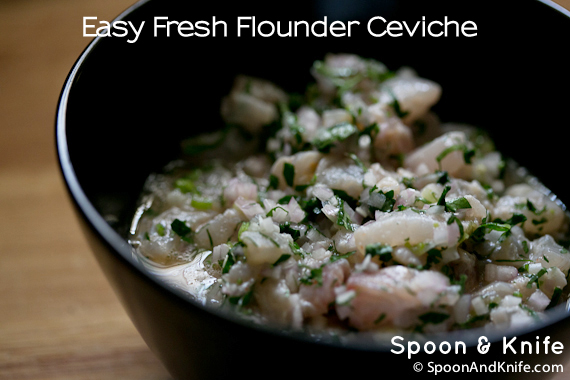 Easy Flounder Ceviche Appetizer Recipe