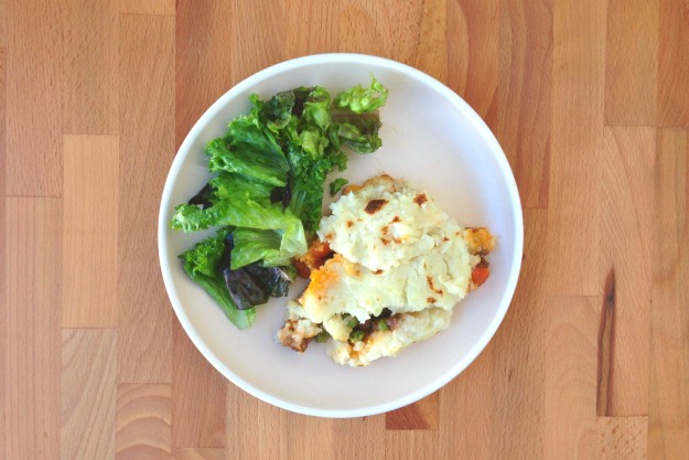 quick skillet shepherd's pie / simple salad