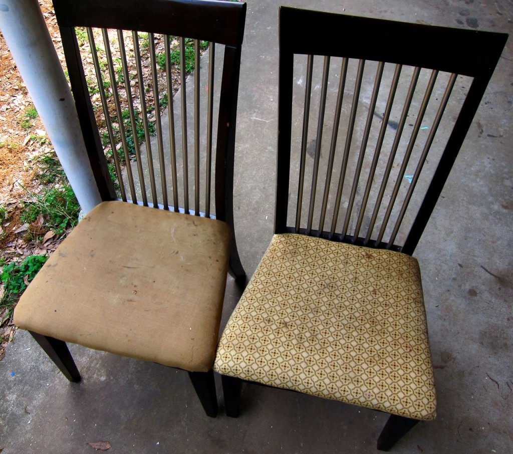 repurpose old kitchen chairs cushions for kitchen chairs old chairs