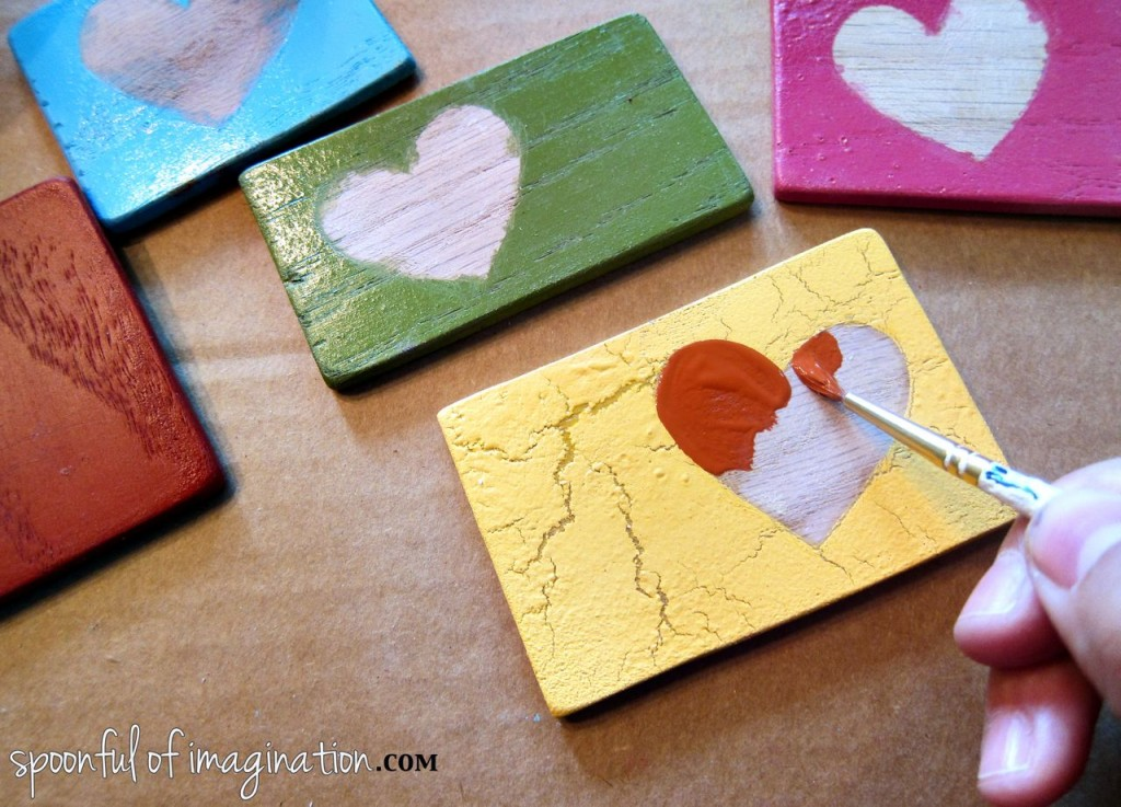 Love Crafting {Diy Wood Magnets} - Spoonful Of Imagination