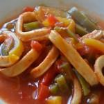 encornets à la tomate