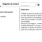 fiche cuisson magret cookeo