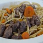 spaghettis bourguignonne au cookeo