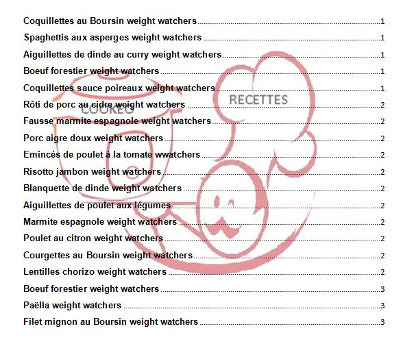 20 RECETTES WW recettes cookeo weight watchers