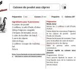 CUISSES DE POULET AUX CAPRES