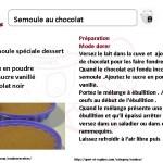 SEMOULE CHOCOLAT