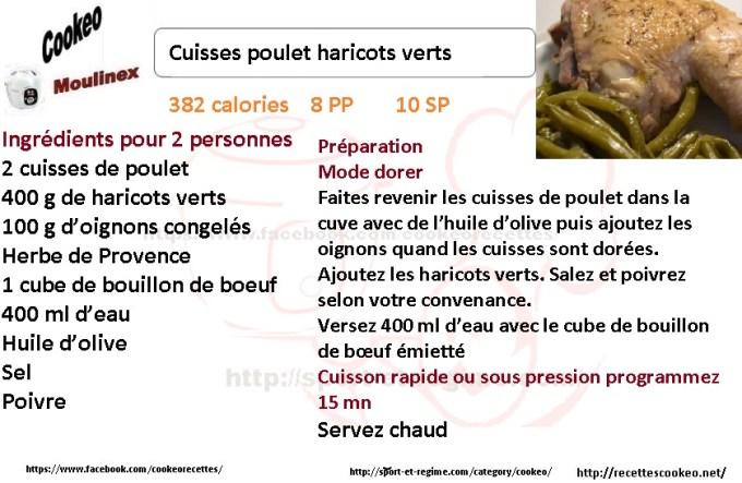 Fiche cookeo cuisses poulet haricots verts - Cuisse de poulet calories ...