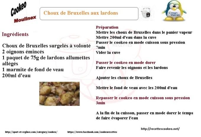 Fiche cookeo choux de bruxelles aux lardons weight watchers - Comment cuisiner les choux de bruxelles ...