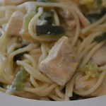 SPAGHETTIS POULET COURGETTES