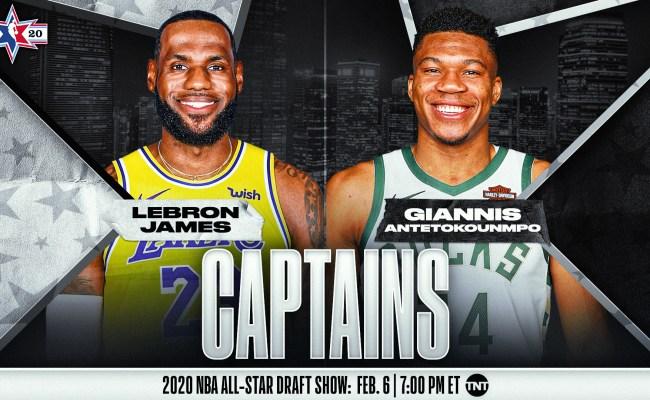 Lakers James Bucks Antetokounmpo Named Starters And