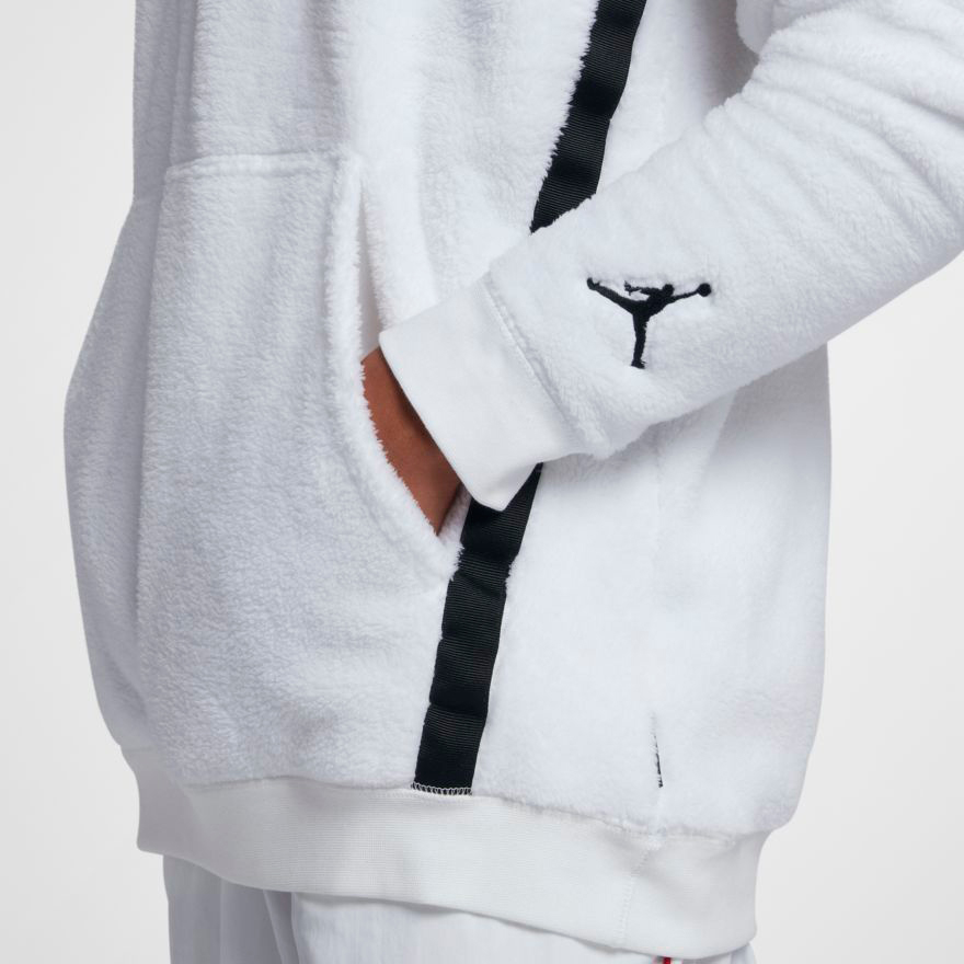 Nike Pullover Fleece Jordan Wings Of Flight Sherpa Fleece Hoodies Sportfits