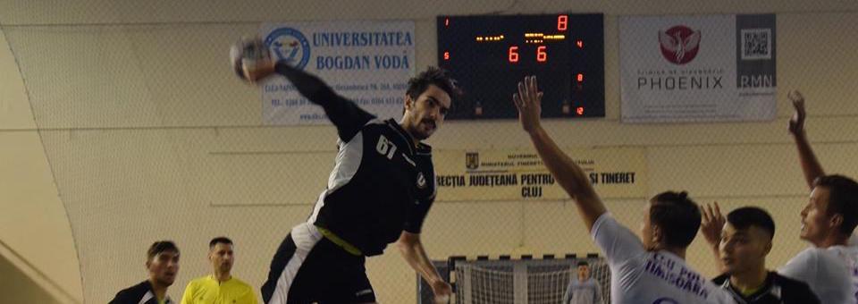 Victorie în debutul campionatului pentru handbaliștii Universității Cluj