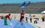 Tamara Moncrieffe of Holmwood Technical wins Triple Jump at Champs