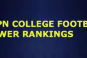 espn college rankings football on saturday