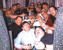 Paul Bearer (seen at the bottom) with some of  the boys