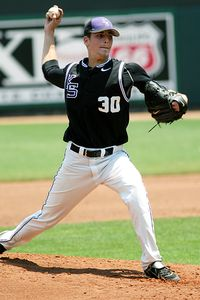 A.J. Morris tossed his fifth complete game of the season in Kansas States 7-6 victory over Rice. (ESPN Photo)