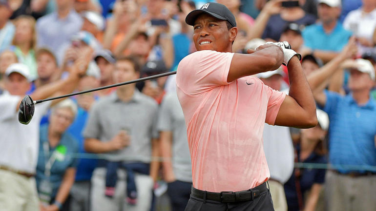 tiger woods score today's game at bmw