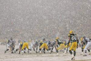 Partido nevado en Green Bay