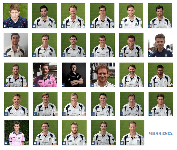 Middlesex players list 2016