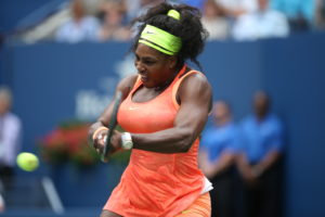 Queens, NY - September 11, 2015 - USTA Billie Jean King National Tennis Center: Serena Williams competing in the Womenâs Semifinal round of the 135th staging of the US Open (Photo by Allen Kee / ESPN Images)