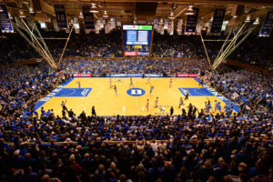 Durham, NC - March 5, 2016 - Cameron Indoor Stadium: The University of North Carolina Tar Heels and the Duke University Blue Devils during a regular season game (Photo by Phil Ellsworth / ESPN Images)