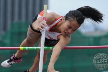 Women's Pole Vault Champion TING Ho Kiu