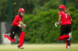 China vs Hong Kong during their ICC 2016 Womenís World Cup Asia Qualifier on 10 October 2016 at the Hong Kong Cricket Club in Hong Kong, China. Photo by Victor Fraile / Power Sport Images