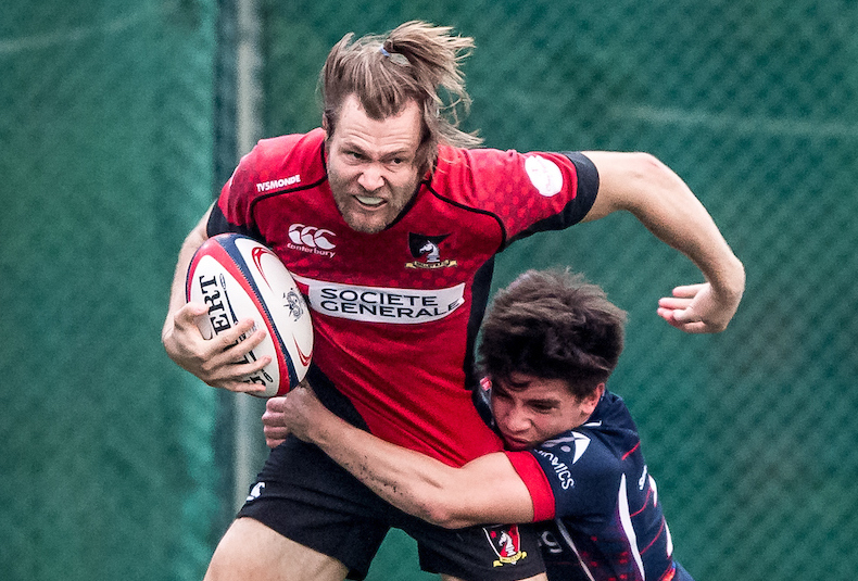 Societe Generale Valley vs Bloomberg HK Scottish during round 3 of rugbypass.com Premiership league 2016-2017 at Shek Kip Mei Sports Ground, Kowloon, Hong Kong on 8 October 2016, Hong Kong, China Photo by : Ike Li / ikeimages