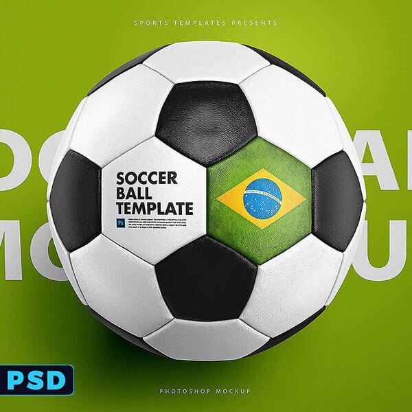 Soccer Football Ball Photoshop Template \u2013 Sports Templates