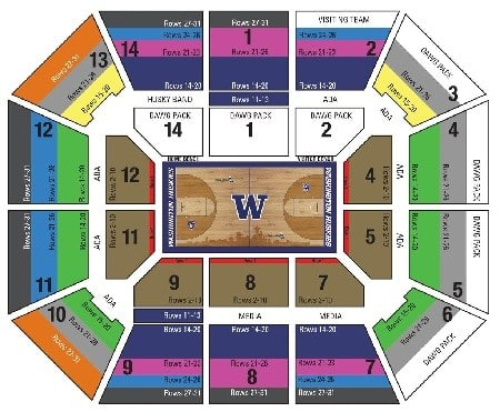 Alaska Airlines Arena Seating Chart Chart Designs Template