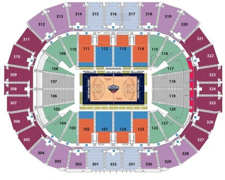 New Orleans Pelicans Tickets 328 Hotels Near Smoothie King Center