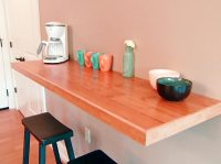 wall-mounted-dining-table-on-the-kitchen : Spotlats