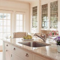 Bright Glass Front Kitchen Cabinet Doors | Spotlats
