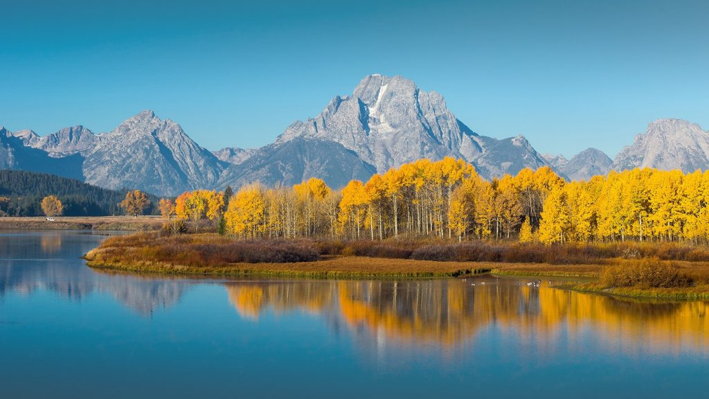 Windows 10 Wallpapers Hd Fall Grand Teton National Park In Autumn Wyoming Usa