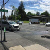 Crash on Delaware Avenue and Becker Terrace
