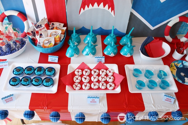 Shark Party Printables Spot of Tea Designs