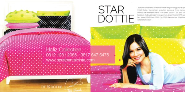 Sprei Star Dottie Ko Bedcover Di Bogor Katalog Sprei Star All New