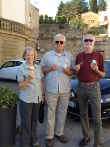 David and Edith have their first gelato