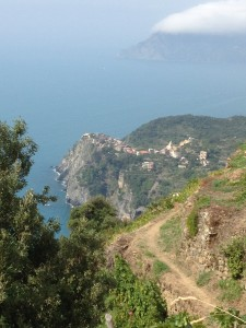 The trail above Corniglia
