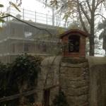 Shrine on the farmhouse walls