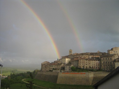 Double rainbow over Anghiari