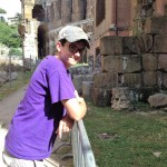 Hunter on his first day in Rome