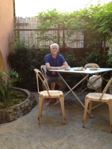 Steve on the patio