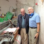 Giovanni and Chip at a loom